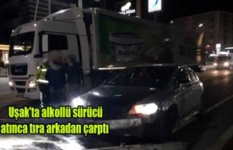 Alkollü Sürücü Makas Atınca Tıra Arkadan Çarptı