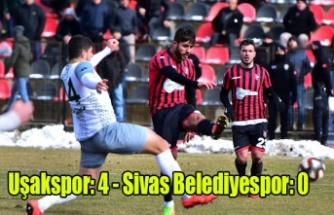 Uşakspor: 4 - Sivas Belediyespor: 0
