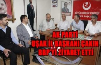 AK PARTİ UŞAK İL BAŞKANI ÇAKIN, BBP'Yİ ZİYARET ETTİ