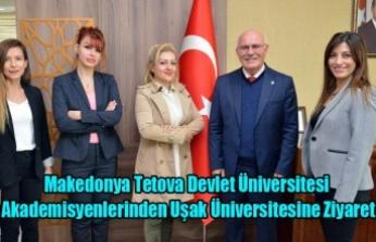 Makedonya Tetova Devlet Üniversitesi Akademisyenlerinden Uşak Üniversitesine Ziyaret