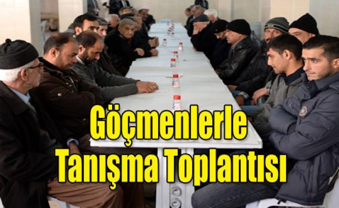 UŞAK'TA GÖÇMENLERLE TANIŞMA TOPLANTISI