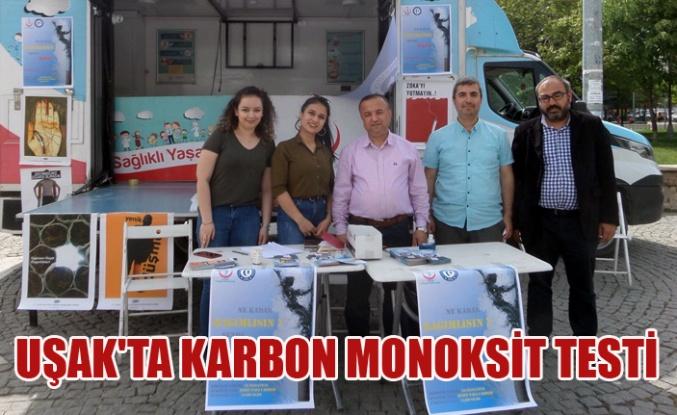 UŞAK'TA KARBON MONOKSİT TESTİ