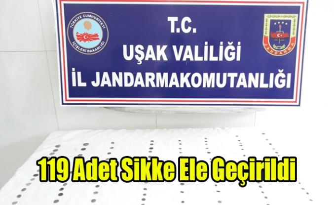UŞAK'TA TARİHİ ESER OPERASYONU, 119 SİKKE ELE GEÇİRİLDİ