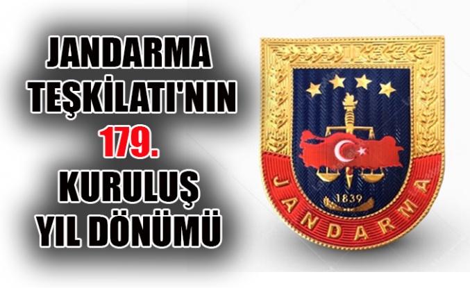 JANDARMA TEŞKİLATI'NIN 179. KURULUŞ YIL DÖNÜMÜ