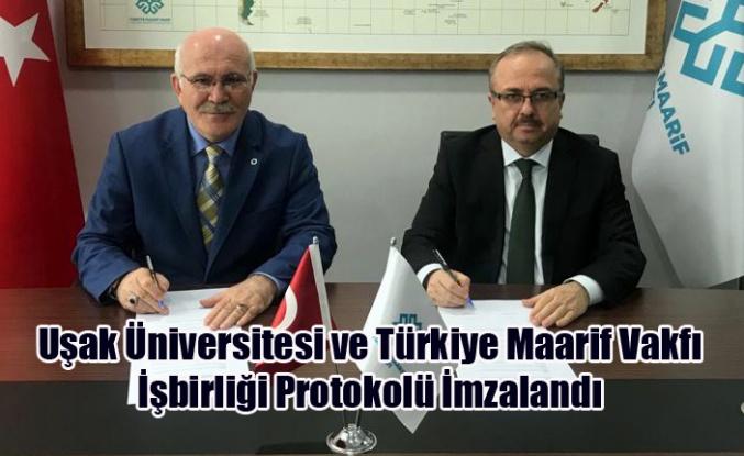 Uşak Üniversitesi ve Türkiye Maarif Vakfı İşbirliği Protokolü İmzalandı