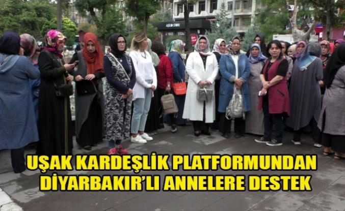 UŞAK KARDEŞLİK PLATFORMUNDAN  DİYARBAKIR'LI ANNELERE DESTEK