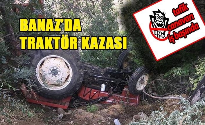 Banaz'da Traktör Kazası