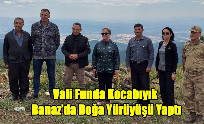 Vali Funda Kocabıyık Banaz İlçesinde Doğa Yürüyüşü Yaptı