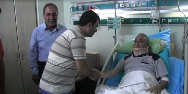 Kaza Geçiren AK Parti Milletvekili Adayını Partililer Yalnız Bırakmıyor