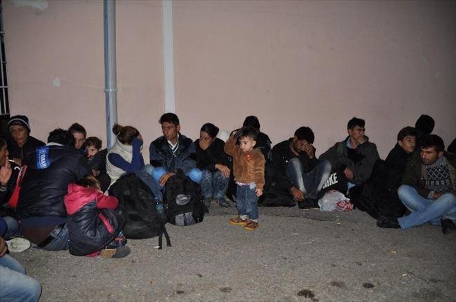 Edirne'de 40 Suriyeli Kaçak Göçmen Yakalandı