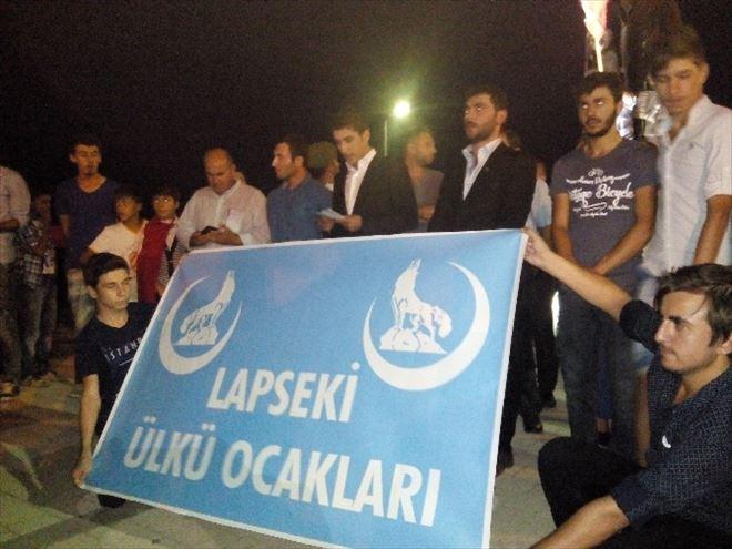 Lapseki'de Şehitlere Saygı Yürüyüşü