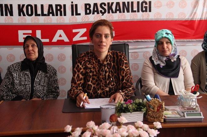 MHP Elazığ Kadın Kolları Teşkilatı Esnafa Bayrak Dağıttı