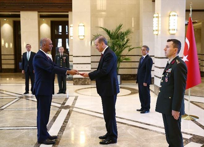 Cumhurbaşkanı Erdoğan, Singapur Ve Somali Büyükelçilerini Kabul Etti