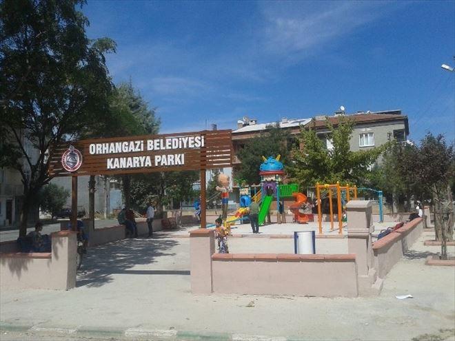 Orhangazi'deki Parklar Yenileniyor
