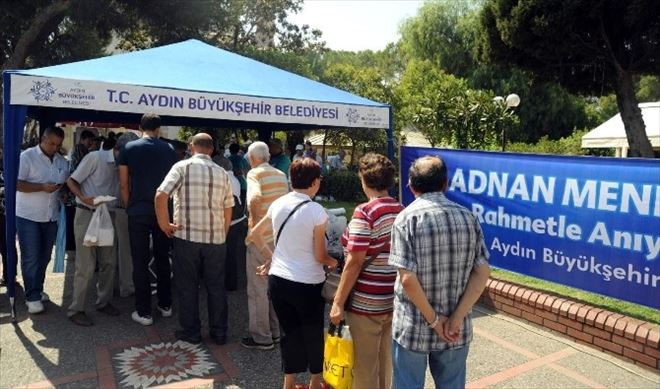 Aydın Büyükşehir, Adnan Menderes'i Andı