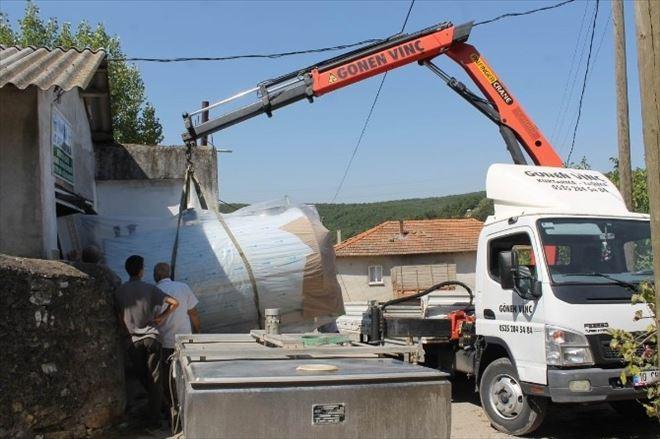 Kırsal Mahallelere Süt Soğutma Tankları Konuluyor