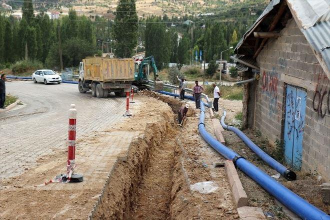 Bozkır'da Su Şebekesi Yenileniyor