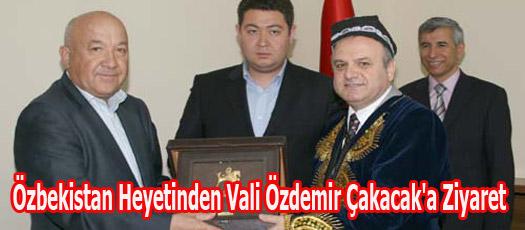 Özbekistan Heyetinden Vali Özdemir Çakacak'a Ziyaret