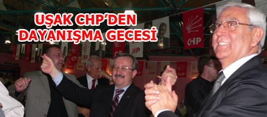 UŞAK CHP'DEN DAYANIŞMA GECESİ