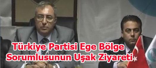 Türkiye Partisi Ege Bölge Sorumlusunun Uşak Ziyareti