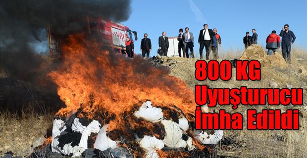 800 KG UYUŞTURUCU CAYIR CAYIR YAKILDI!