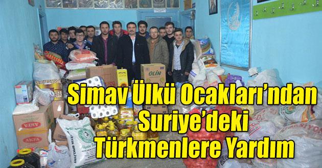 Simav Ülkü Ocakları'ndan Suriye'deki Türkmenlere yardım