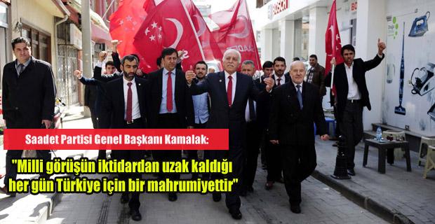 SAADET PARTİSİ GENEL BAŞKANI UŞAK'TAYDI