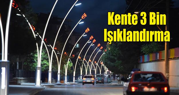 KENTE 3 BİN IŞIKLANDIRMA