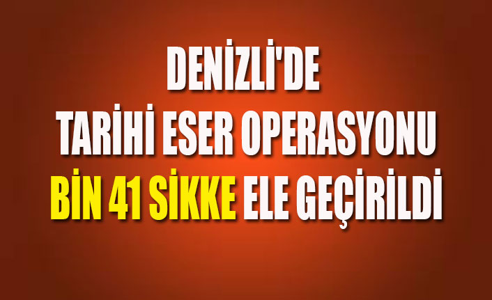 DENİZLİ'DE TARİHİ ESER OPERASYONU BİN 41 SİKKE ELE GEÇİRİLDİ