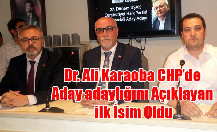 DR. ALİ KARAOBA CHP'DEN ADAY ADAYLIĞINI AÇIKLAYAN İLK İSİM OLDU