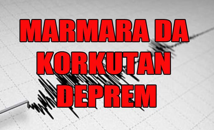 MARMARA DA DEPREM KORKUTTU