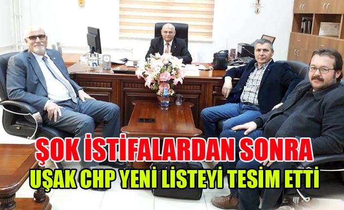 UŞAK CHP DE YENİ LİSTE TESLİM EDİLDİ