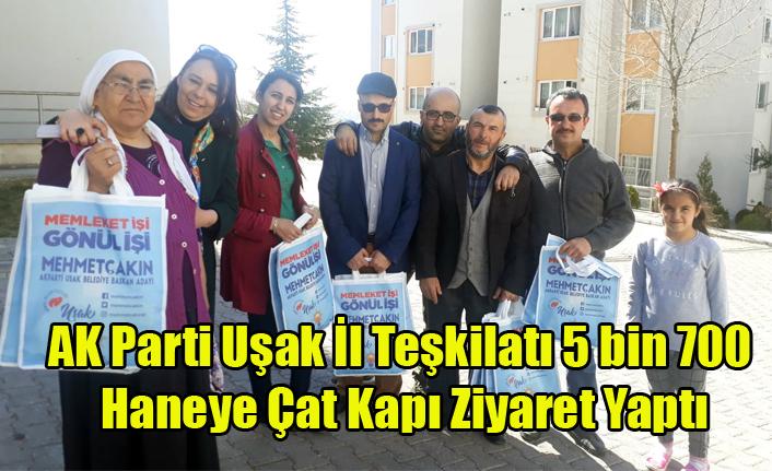 AK Parti Uşak İl Teşkilatı, 5 bin 700 Haneye Çat Kapı Ziyaret Gerçeklerştirdi