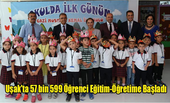 Uşak'ta 57 bin 599 öğrenci eğitim-öğretime başladı