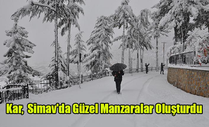 Kar,  Simav'da Güzel Manzaralar oluşturdu