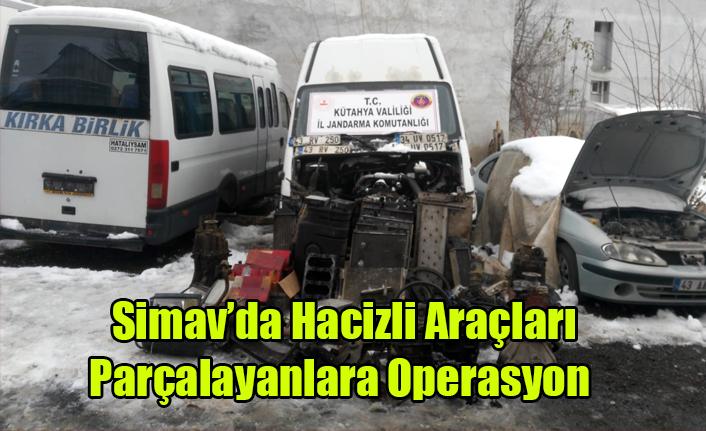 Simav'da hacizli araçları parçalayanlara operasyon