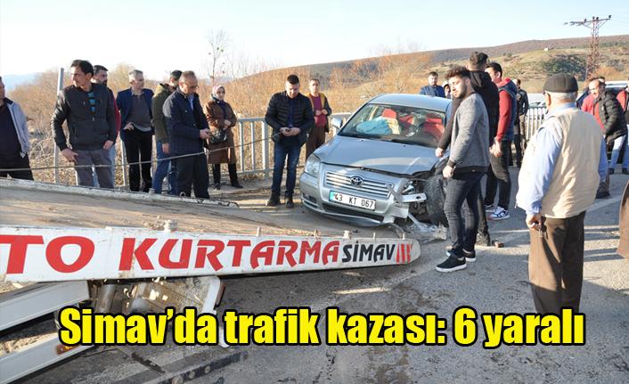 Simav'da Trafik Kazası: 6 Yaralı