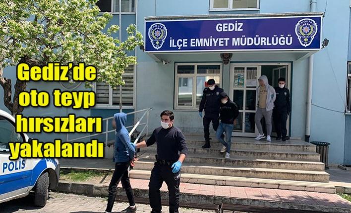 Gediz'de oto teyp hırsızları yakalandı