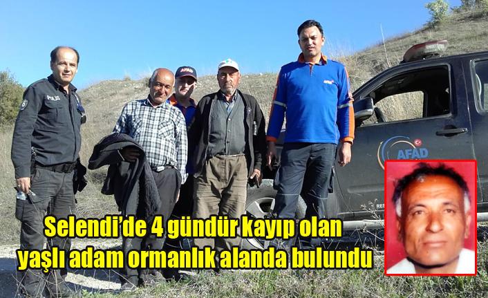 Selendi'de 4 gündür kayıp olan yaşlı adam ormanlık alanda bulundu