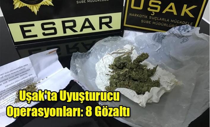 Uşak'ta Uyuşturucu Operasyonları: 8 Gözaltı