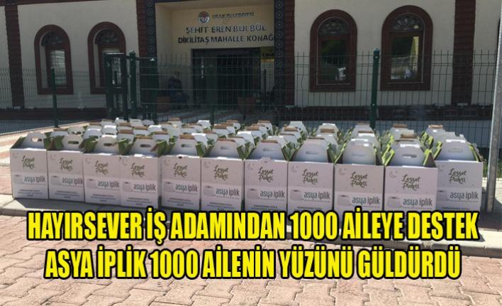ASYA İPLİK 1000 AİLENİN YÜZÜNÜ GÜLDÜRDÜ