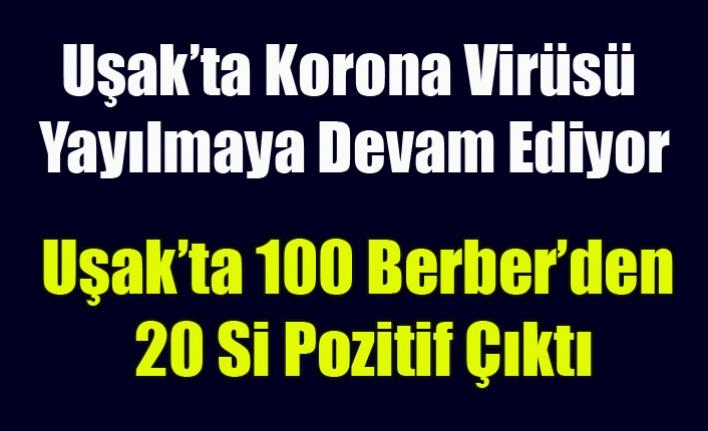 Uşak'ta 100 Berber'den 20 sinde Korona Virüsüne rastlandı