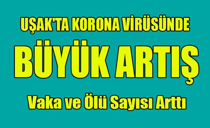 UŞAK'TA KORONA VİRÜSÜNDE BÜYÜK ARTIŞ ÖLÜ SAYISI DA ARTTI