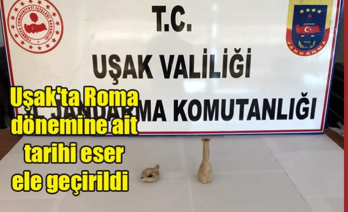 Uşak'ta Roma dönemine ait tarihi eser ele geçirildi