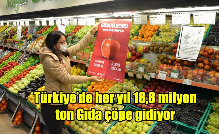 Türkiye'de her yıl 18,8 milyon ton gıdanın çöpe gidiyor