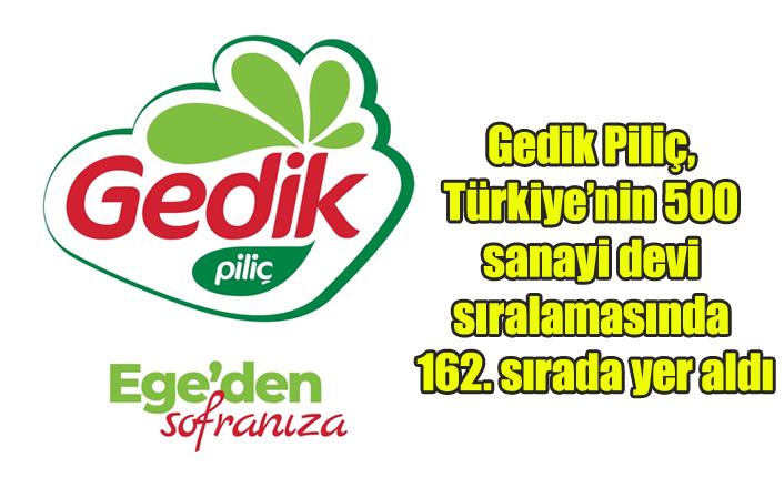 Gedik Piliç, Türkiye'nin 500 sanayi devi sıralamasında 162. sırada yer aldı
