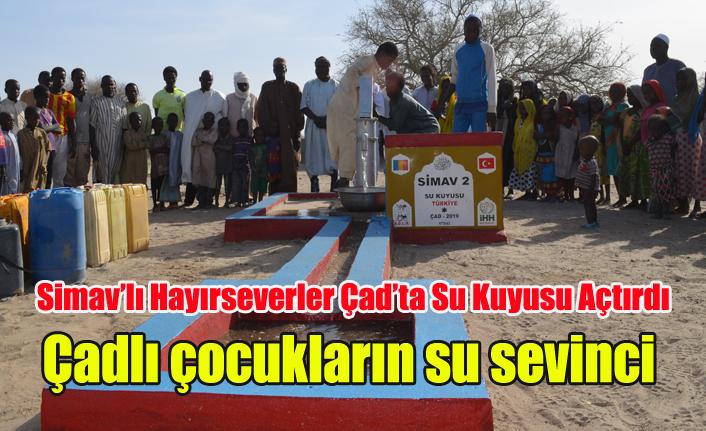 Simavlı Hayırseverler Çad'ta Su Kuyusu Açtırdı, Çocuklar sevince boğuldu
