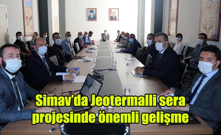 Simav'da Jeotermalli sera projesinde önemli gelişme