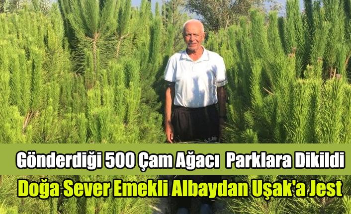 Doğa Sever Emekli Albaydan Uşak'a Jest