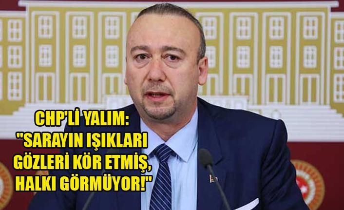 """CHP'Lİ YALIM: """"SARAYIN IŞIKLARI GÖZLERİ KÖR ETMİŞ, HALKI GÖRMÜYOR!"""""""